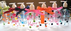 personalized hand sanitizer bottles... totally unnecessary but would be a cute and fun DIY