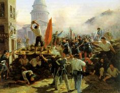 June 23, 1848: Parisian workers take to the streets after the French government cuts public works programs to provide for the unemployed. Artillery was brought in against the protesters' barricades and at least 1,500 people were killed, 12,000 arrested, and many exiled to Algeria.