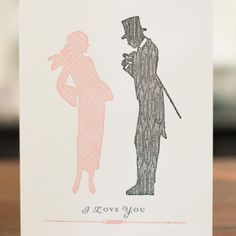 Sesame Letterpress Silhouette Cards via Oh So Beautiful Paper (1)