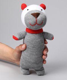 Gray Bear Sock Doll on Zulily