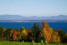 Mt. Mansfield & Burlington, VT seen from across Lake Champlain in Keeseville, NY