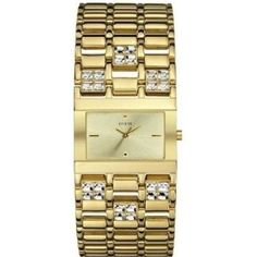 Guess Crystal Gold-Tone Ladies Watch
