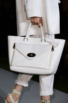 This Mulberry white on white bag is the perfect accessory to complete a flawless look. #Wedgwood #Whiteonwhite