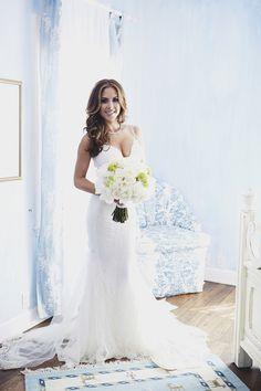 Bride in Form-Fitting Gown with Mermaid Skirt   Photography: Daniel Kincaid Photography. Read More: http://www.insideweddings.com/weddings/brittney-palmer-and-aaron-zalewski/595/