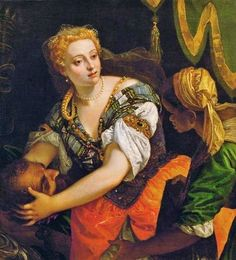PAOLO VERONESE, c. 1528 - 1588: Judith with the head of Holofernes. Oil on panel, 111 x 100'5.