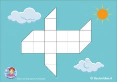 Vliegtuig 16 vierkantjes, kleuteridee Transportation Theme, Behaviour Management, Eyfs, Smiley, Origami, Homeschool, Classroom, Teaching, Projects