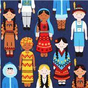 navy blue children fabric Robert Kaufman It's a kid's world