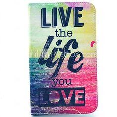 leef het leven je liefde patroon full body case met standaard voor samsung galaxy tab 3 lite t110 - EUR €18.04