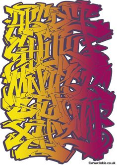 Wildstyle ABC by Inkie is a Signed Limited Edition Print. All Epoch Art Gallery prints include FREE UK delivery. Graffiti Alphabet Styles, Graffiti Lettering Alphabet, Graffiti Text, Graffiti Writing, Tattoo Lettering Fonts, Graffiti Wall Art, Graffiti Styles, Street Art Graffiti, Graffiti Artists