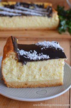Puszysty sernik śmietankowy Cute Desserts, Cookie Desserts, No Bake Desserts, Polish Desserts, Polish Recipes, Bread Cake, Dessert Bread, Sweet Recipes, Cake Recipes