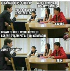 Io lavoro nobilita l'uomo Maybe Meme, Thumbs Up Funny, Funny Images, Funny Pictures, Italian Memes, Funny Scenes, Word Pictures, Have A Laugh, Jokes Quotes