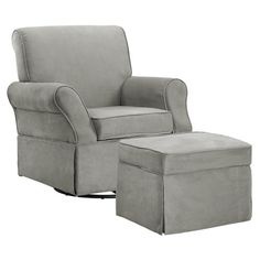 Baby Relax Kelcie Swivel Glider and Ottoman - Nap time can be the best bonding…