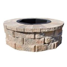 Pavestone 40 In W X 14 In H Rockwall Round Fire Pit Kit Palomino with proportions 1000 X 1000 40 Inch Fire Pit Cover - The fire pits popularity is on the