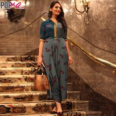 #Spotted: @headtilt's Surbhi Sethi turning heads in a printed #Soup jumpsuit!  #AIFW2015