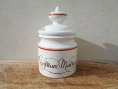 French large jam pot French vintage Porcelaine d'Auteuil