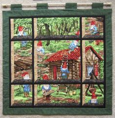 what is an attic window quilt - Bing images Quilting Templates, Quilting Projects, Quilting Designs, Rug Hooking Patterns, Quilt Patterns, Fabric Panel Quilts, Attic Window Quilts, Summer Quilts, Flower Quilts