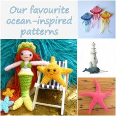 Our top ocean-inspired patterns - find them all on the Let's Knit blog!
