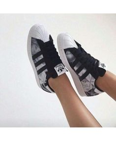 Unisexe Adidas Superstar Cuir Noir Brillant | life is short