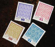 STAMP 切手 レースパターン/東ドイツ1974年