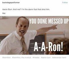 Stupid Funny Memes, Funny Relatable Memes, Haha Funny, Hilarious, Funny Quotes, Hamilton Broadway, Hamilton Musical, Theatre Jokes, Theater