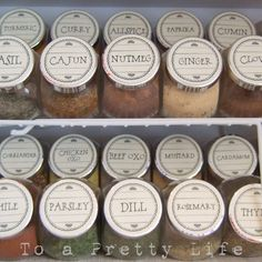 Spice Jars and Labels