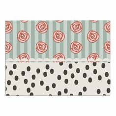 KESS InHouse Pellerina Design 'Mismatch Romantic' Polkadot Floral Dog Place Mat, 13' x 18' ** See this awesome image  : Dog food container