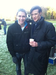 Charlie McDonnell and Matt Smith. My tragically American mind is blown. Lol