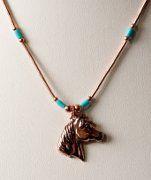 Liquid Copper Horse Head Necklace