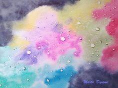 Nebulosa Arcoiris Burbujeante.  Acuarela