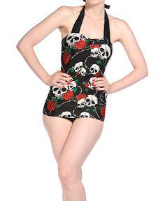 736499b2d319 Las 36 mejores imágenes de Bañadores Goticos y Bikinis Pin up en ...