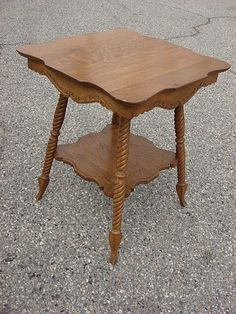 Antique American Lamp Table
