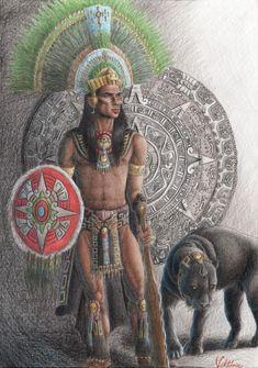 Aztec Warrior | Aztec Warrior by Viktória Verebélyi