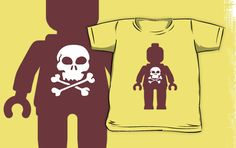 """""""Minifig with Skull Design by Customize My Minifig"""" Kids Clothes by ChilleeW 