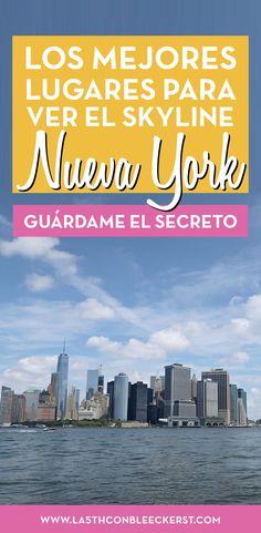Los miradores de Nueva York desde donde disfrutarás de las mejores vistas del skyline de Manhattan. #NuevaYork #NYC #Manhattan #NuevaYorkfotos