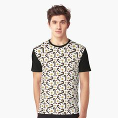 """""""Christmas pattern with candy canes and stars"""" T-shirt by Lenka24   Redbubble"""