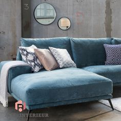 Trendhopper ● Nude pastel colors and strong black steel complement each other … Classic Living Room, Living Room Sofa, Home Living Room, Living Room Decor, Furniture Showroom, Home Furniture, Furniture Design, Colorful Furniture, Contemporary Furniture