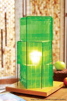 Lámparas de botellas de PET