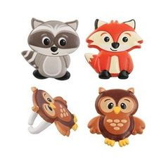 Woodland Animal Friends Cupcake Rings by Bakery Supplies (24-Pack) * Check out the image by visiting the link.