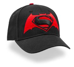 Fitted baseball cap featuring the logo for Batman v Superman: Dawn of Justice .
