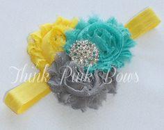 Baby Headband, Headband, baby girl headband,Newborn Headband, shabby chic headband, baby headbands,flower headband, baby hair bows.