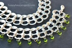 Soda Pop Tab Upcycled Bracelet Tutorial