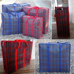 Jumbo Laundry Bags Zipped Reusable Large Strong Shopping / Storage Bag Zip