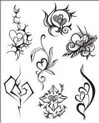 These tribal hearts tattoo stencils samples for men and women.