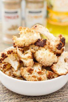 The BEST Curried Roasted Cauliflower- thebigmansworld.com