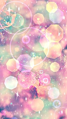 By Artist Unknown. Bokeh Wallpaper, Phone Screen Wallpaper, Pink Wallpaper Iphone, Glitter Wallpaper, Galaxy Wallpaper, Cellphone Wallpaper, Cute Wallpaper Backgrounds, Pretty Wallpapers, Colorful Wallpaper