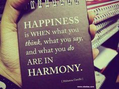 #Happiness #happy #quotes #thoughts by Mahatma Gandhi
