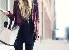 handbag shape and contrast