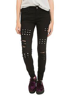 Royal Bones By Tripp Black Studded Skinny JeansRoyal Bones By Tripp Black Studded Skinny Jeans,
