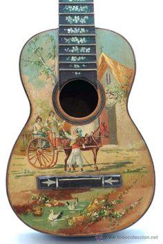 Resultado de imagen para guitarras pintadas al oleo