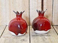 Australian handmade ceramics / Judaica pomegranates by www.millerspottery.com